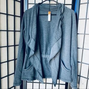 Lucy open front draped cardigan athleisure jacket